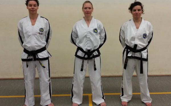 De drie hoogst gegradueerde ITF Nederland dames