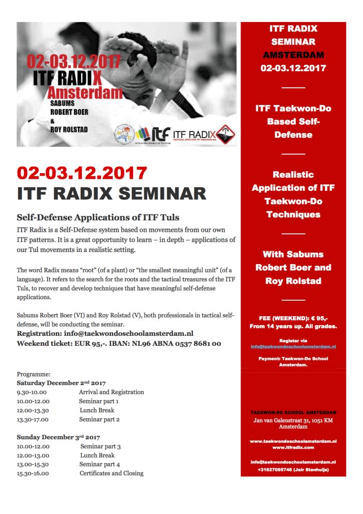 Invitation Radix Dec 2-3 2017 Amsterdam